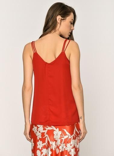 Loves You 3 Askılı Astarlı Bluz Kırmızı